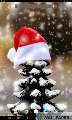 Christmas Snow Wallpaper - a cool phone wallpaper for Android - Screenshot #1