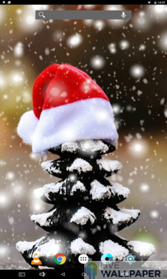 Christmas Snow Wallpaper - a cool phone wallpaper for Android - Screenshot #3