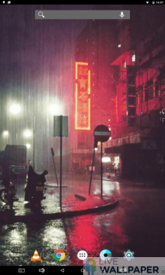 Rainy City Wallpaper - a cool phone wallpaper for Android - Screenshot #1