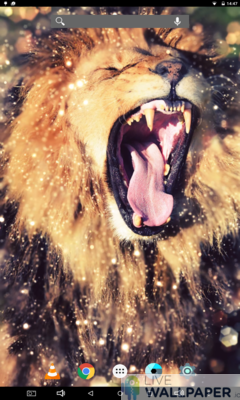 Lion Gold Glitter Background - a cool phone wallpaper for Android - Screenshot #2