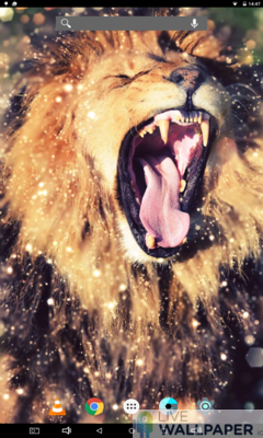 Lion Gold Glitter Background - a cool phone wallpaper for Android - Screenshot #3