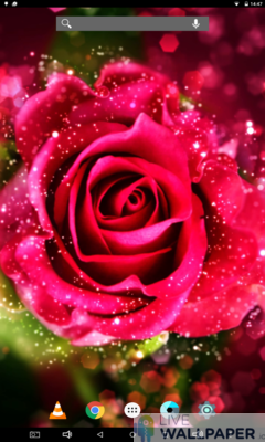 Rose Glitter Background - a cool phone wallpaper for Android - Screenshot #1