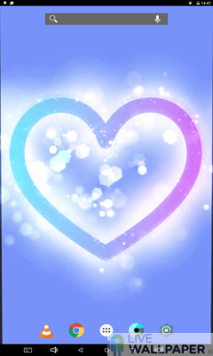Glowing Heart Wallpaper - a cool phone wallpaper for Android - Screenshot #1