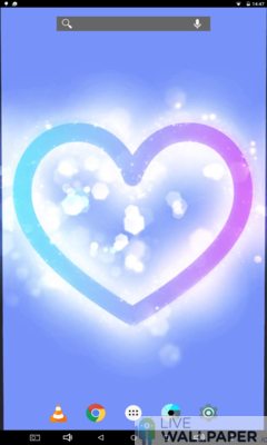 Glowing Heart Wallpaper - a cool phone wallpaper for Android - Screenshot #2