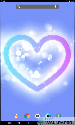 Glowing Heart Wallpaper - a cool phone wallpaper for Android - Screenshot #3