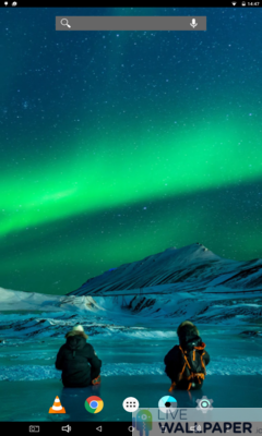 Northern Lights Live Wallpaper - a cool phone wallpaper for Android - Screenshot #1