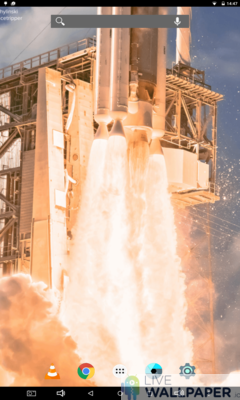 Rocket Taking Off Live Wallpaper - a cool phone wallpaper for Android - Screenshot #1