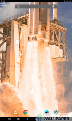 Rocket Taking Off Live Wallpaper - a cool phone wallpaper for Android - Screenshot #2