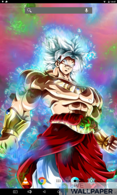 Broly Ultra Instinct Live Wallpaper - a cool phone wallpaper for Android - Screenshot #2