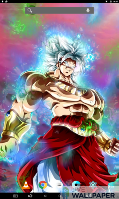 Broly Ultra Instinct Live Wallpaper - a cool phone wallpaper for Android - Screenshot #3