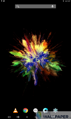 Colors Explosion Live Wallpaper - a cool phone wallpaper for Android - Screenshot #1