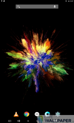 Colors Explosion Live Wallpaper - a cool phone wallpaper for Android - Screenshot #2