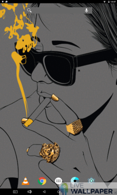 Smoking Girl Wallpaper - a cool phone wallpaper for Android - Screenshot #2