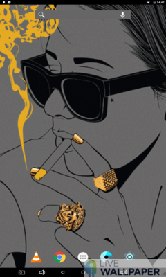 Smoking Girl Wallpaper - a cool phone wallpaper for Android - Screenshot #3