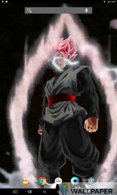 Black Zamasu Live Wallpaper - a cool phone wallpaper for Android - Screenshot #3