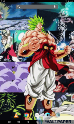 Broly Super Saiyan Live Wallpaper - a cool phone wallpaper for Android - Screenshot #1