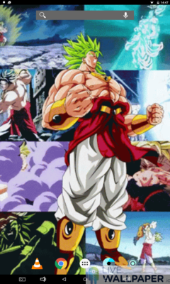 Broly Super Saiyan Live Wallpaper - a cool phone wallpaper for Android - Screenshot #2