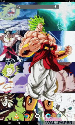 Broly Super Saiyan Live Wallpaper - a cool phone wallpaper for Android - Screenshot #3