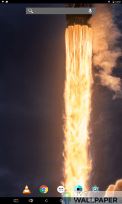 Rocket Launch Live Wallpaper - a cool phone wallpaper for Android - Screenshot #1