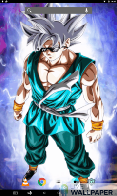 Goku MUI Live Wallpaper - a cool phone wallpaper for Android - Screenshot #1