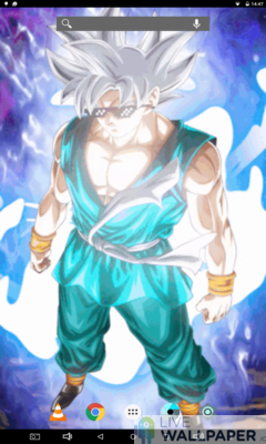 Goku MUI Live Wallpaper - a cool phone wallpaper for Android - Screenshot #2