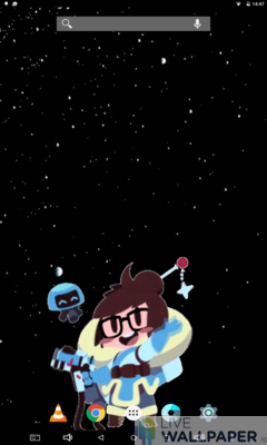 Waving Mei Overwatch Wallpaper - a cool phone wallpaper for Android - Screenshot #1