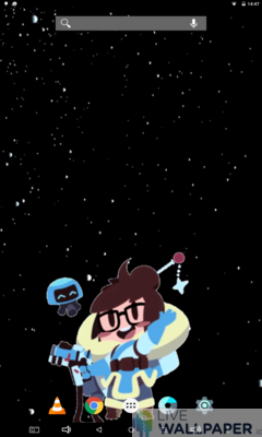 Waving Mei Overwatch Wallpaper - a cool phone wallpaper for Android - Screenshot #3