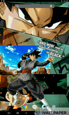 Goku Black Live Wallpaper - a cool phone wallpaper for Android - Screenshot #2