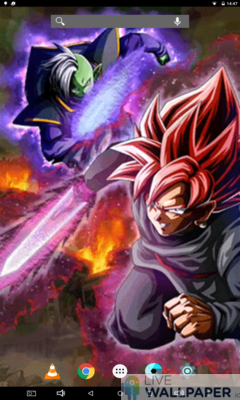 Black and Zamasu Live Wallpaper - a cool phone wallpaper for Android - Screenshot #1