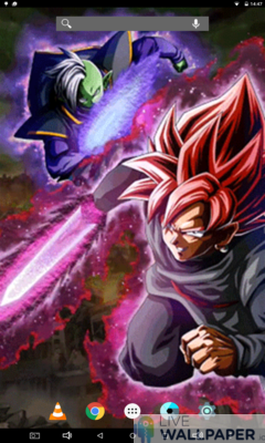 Black and Zamasu Live Wallpaper - a cool phone wallpaper for Android - Screenshot #3