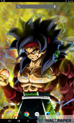 Bardock Saiyan Live Wallpaper - a cool phone wallpaper for Android - Screenshot #2