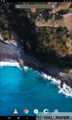 Acquafredda Coast Live Wallpaper - a cool phone wallpaper for Android - Screenshot #1