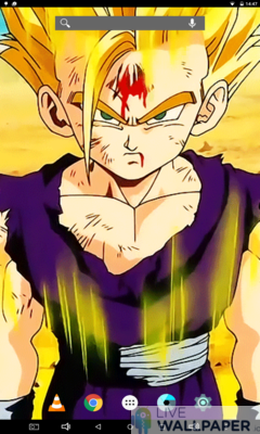 Wounded Gohan Live Wallpaper - a cool phone wallpaper for Android - Screenshot #2