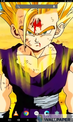 Wounded Gohan Live Wallpaper - a cool phone wallpaper for Android - Screenshot #3