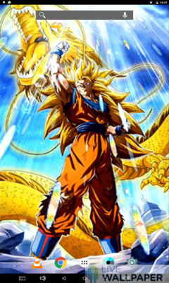LR SSJ3 Goku Live Wallpaper - a cool phone wallpaper for Android - Screenshot #1