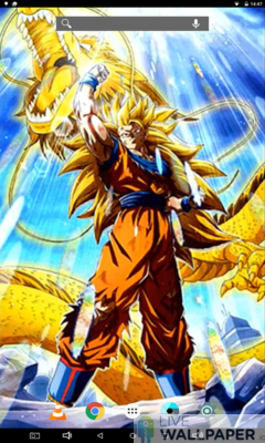 LR SSJ3 Goku Live Wallpaper - a cool phone wallpaper for Android - Screenshot #2