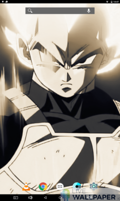 Vegeta in Sepia Live Wallpaper - a cool phone wallpaper for Android - Screenshot #1