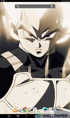 Vegeta in Sepia Live Wallpaper - a cool phone wallpaper for Android - Screenshot #2