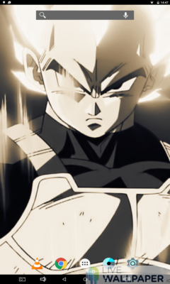 Vegeta in Sepia Live Wallpaper - a cool phone wallpaper for Android - Screenshot #3