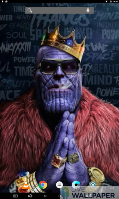 Pimped Thanos Live Wallpaper - a cool phone wallpaper for Android - Screenshot #1