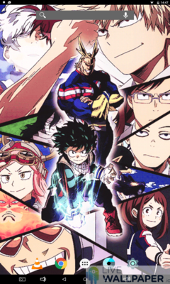 My Hero Academia Live Wallpaper - a cool phone wallpaper for Android - Screenshot #1