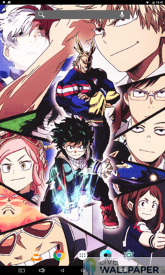 My Hero Academia Live Wallpaper - a cool phone wallpaper for Android - Screenshot #2