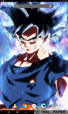 Goku Ultra Instinct Live Wallpaper - a cool phone wallpaper for Android - Screenshot #3