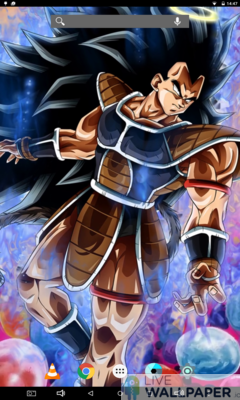 Raditz Live Wallpaper - a cool phone wallpaper for Android - Screenshot #2