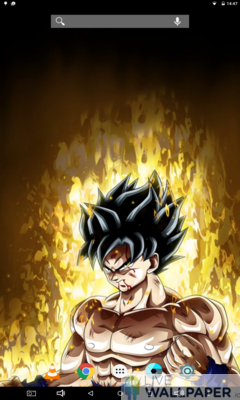 Angry Goku Live Wallpaper - a cool phone wallpaper for Android - Screenshot #1
