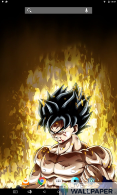 Angry Goku Live Wallpaper - a cool phone wallpaper for Android - Screenshot #2