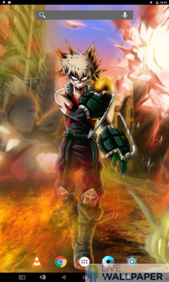 Bakugo Live Wallpaper - a cool phone wallpaper for Android - Screenshot #1