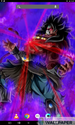 Dark Broly Live Wallpaper - a cool phone wallpaper for Android - Screenshot #1