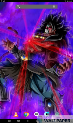 Dark Broly Live Wallpaper - a cool phone wallpaper for Android - Screenshot #2