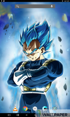 Sharp-eyed Vegeta Live Wallpaper - a cool phone wallpaper for Android - Screenshot #1